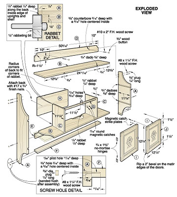 wood wall cabinet plans