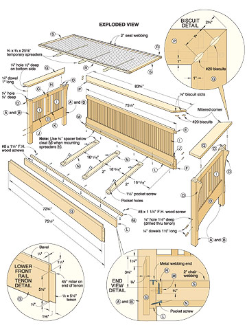woodworking sofa plans