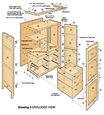 free furniture plans armoire woodworker magazine. Black Bedroom Furniture Sets. Home Design Ideas