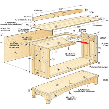 plans for bookcase