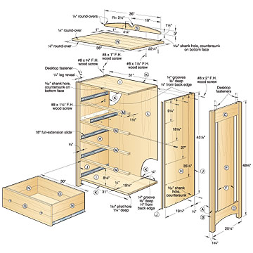 dresser woodworking plans free