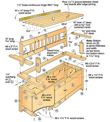 plans a bench seat with storage