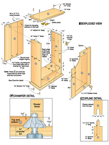WoodWorking Plans And Furniture Plans: Cabinet Plans - 2 Door Wall