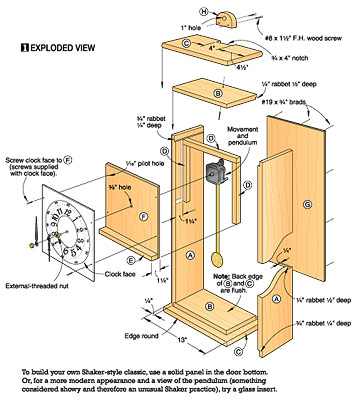 Awesome How To Make A Grandfather Clock DIY Standing Clock Plans