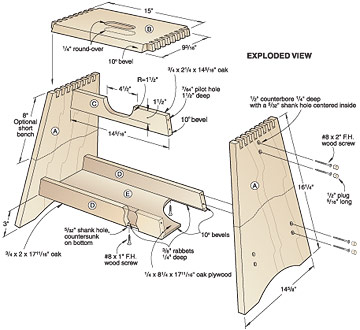 wood plans for a step stool