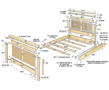 Woodwork Bed Woodworking Plans Pdf Plans
