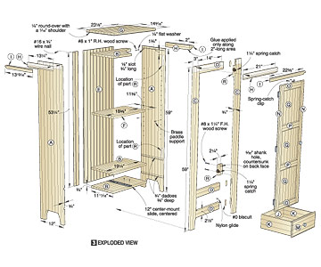 Chimney Cupboard Plans