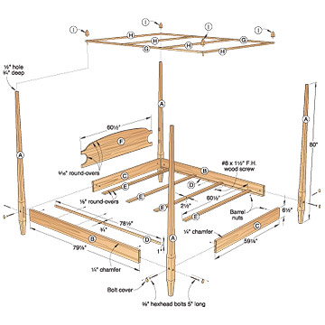 DIY Pencil Post Bed Plans Pdf Plans Free