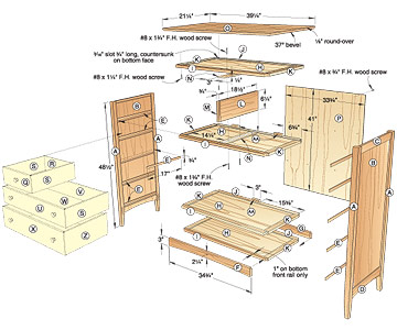 Shaker Dresser Woodworking Plan