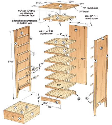 chest of drawers construction plans