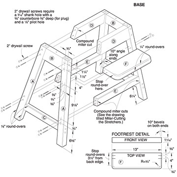 Plywood high chair plans
