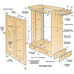 tv cabinet plans woodworking | woodplans