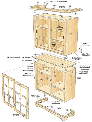 plans cabinet with sliding doors