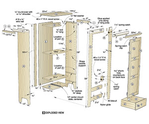 Country Classic Chimney Cupboard Woodworking Plan