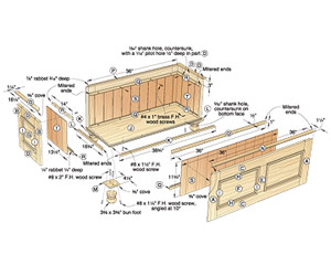 Cedar-Lined Blanket Chest Woodworking Plan