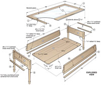 Glass-Topped Coffee Table Woodworking Plan