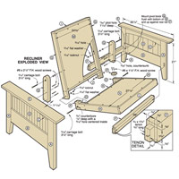 Futon Chair and Ottoman Woodworking Plan