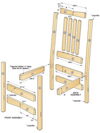 Two-in-One Arts & Crafts Chair/Rocker Woodworking Plan