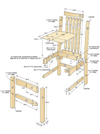 Dining Chair Woodworking Plan
