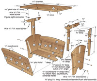 Magazine Rack/Table Woodworking Plan