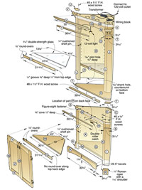 plans for corner cupboard