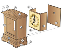 Time-honored Bracket Clock Woodworking Plan