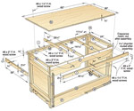 Space-saving Double?duty Tablesaw Workbench Woodworking Plan