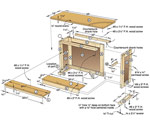 Basic-Built, Simple ?n? Sturdy Tool Stand Woodworking Plan