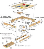 Chinese Checker Board Game Woodworking Plan
