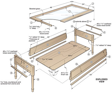 woodworking plan coffee table