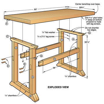 simple wooden workbench plans
