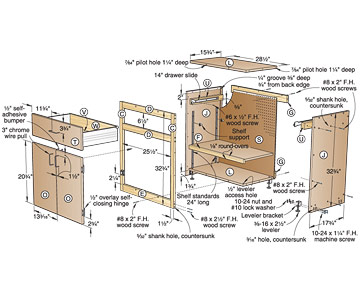 Office 4 Drawer Filing Cabinet - Woodworking Plans