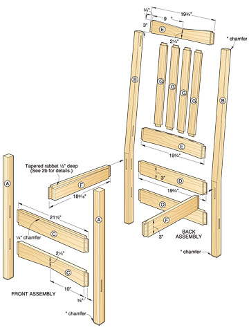 classic rocker woodworking plan 2