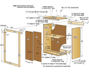 Cabinet Garage Hanging Plan Storage Wall Wood Working