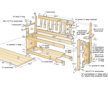 hall tree bench woodworking plans – woodguides