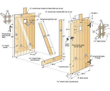 woodworking plans wood garden gate