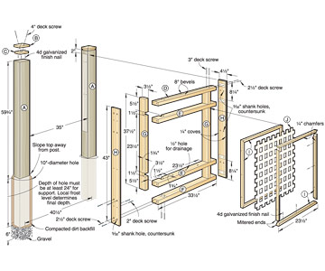 Lattice Fence Plans