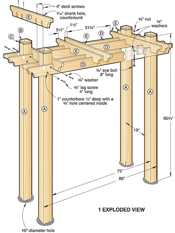 plans for wooden arbors