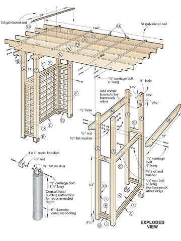 garden arbor woodworking plans