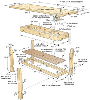 basic work table plans
