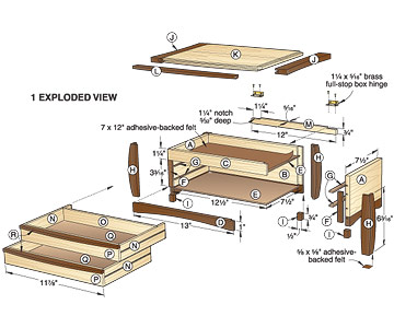 free wood plans jewelry box