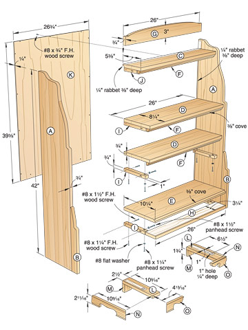 Solid Oak Bookcase Woodworking Plan
