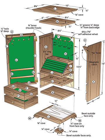 Easy wooden jewelry box plans freepdf Wardrobe cabinet design woodworking plans