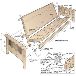 Fantastic Futon Bed Woodworking Plan