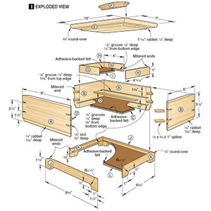 Free Jewelry Box Plans Blueprints Pdf Diy Download How To Build | Apps ...