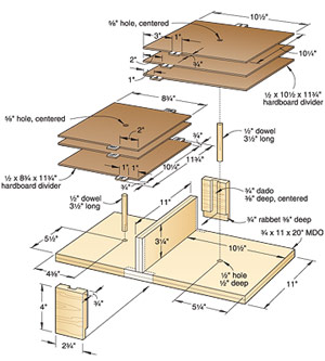 Top-Drawer Blade Organizer Woodworking Plan