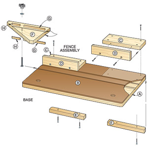Accurate-Alignment Biscuit-Joiner Jig Woodworking Plan