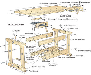 wooden work bench plans free