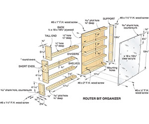 Easy-Access Router-Bit Organizer Woodworking Plan