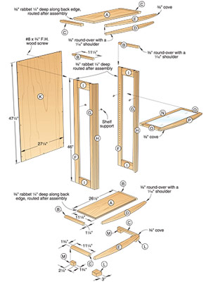Woodwork Display Case Plans PDF Plans